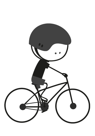 ride: Doodle Ride A Bicycle Illustration