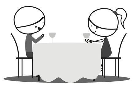 Doodle Romantic date Illustration