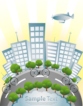 green building: Ecology, Bicycle and Green City