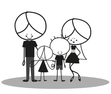 happy family: Doodle Happy Family