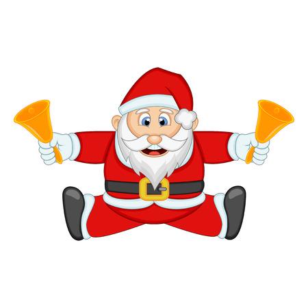 degraded: Santa Claus Cartoon For Your Design Vector Illustration