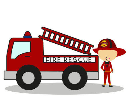 full color: Doodle Firefighters Fire Rescue - Full Color