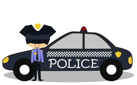 patrolman: Doodle police officers - Full Color Illustration