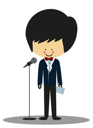 corny: Doodle Host Announcer - Full Color