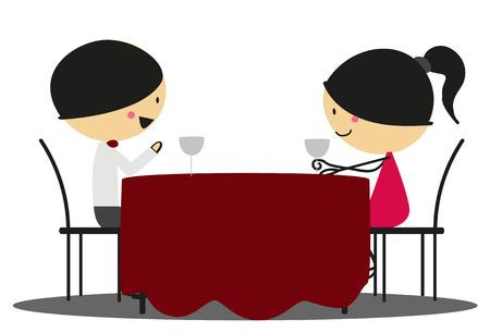 romantic date: Doodle Romantic date - Full Color