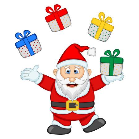snow man party: Santa Claus For Your Design Vector Illustration Illustration