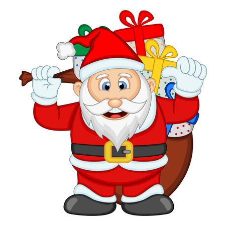 degraded: Santa Claus For Your Design Vector Illustration Illustration