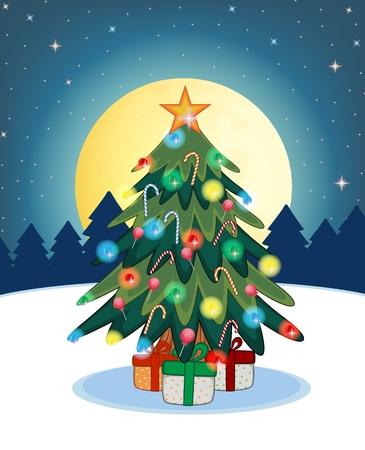 christmas tree illustration: Christmas Tree For Your Design Vector Illustration Illustration