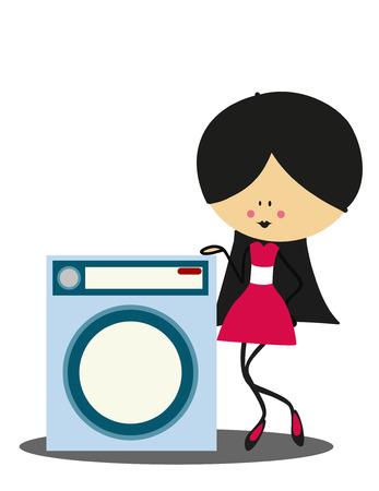 full color: Doodle Washing - Full Color Illustration