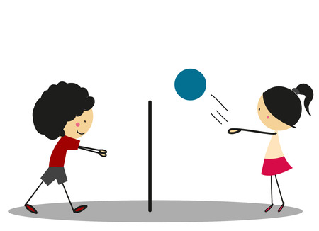 full color: Doodle Volleyball Sport - Full Color