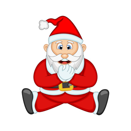 santa sack: Santa Claus For Your Design Vector Illustration Illustration