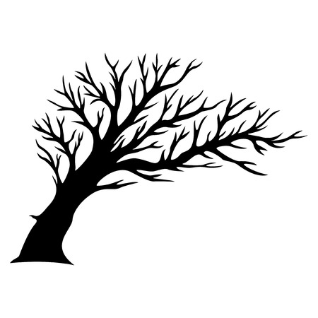 Decorative tree silhouette