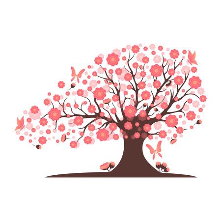 Dekorative schöne Kirschblütenbaum
