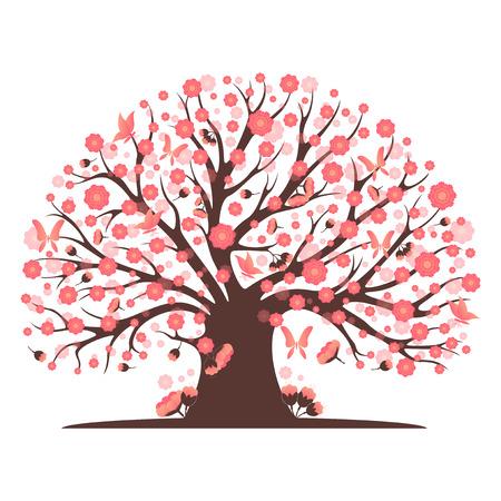 blossom tree: Decorative beautiful cherry blossom tree