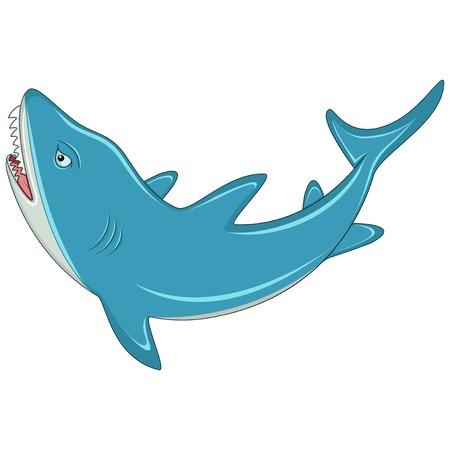 Shark with sharp teeth cartoon
