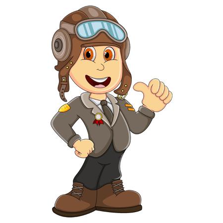 Cute Pilot cartoon