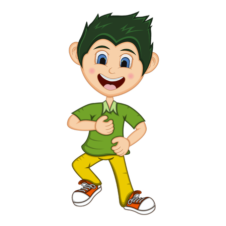 Boy Cartoon with Dancing pose