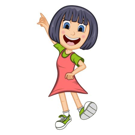Girl dancing cartoon 向量圖像