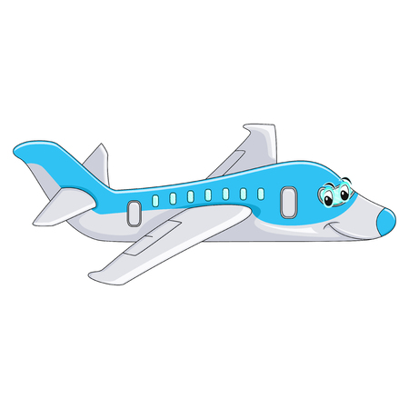 Funny Aeroplane cartoon vector illustration 向量圖像