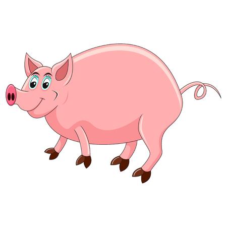 Pig cartoon vector illustration