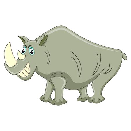 Rhino Cartoon vector illustration