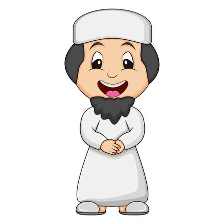 Moslem man cartoon vector illustration 向量圖像