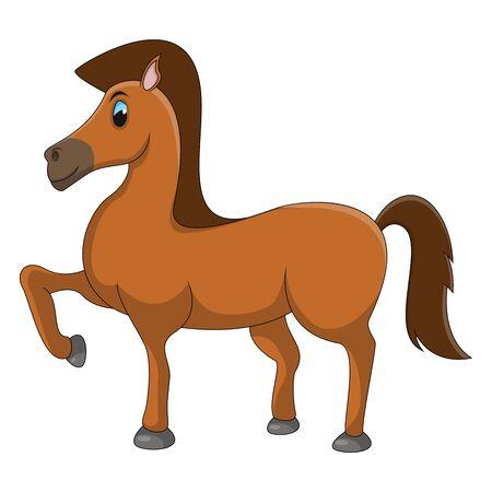 Horse Funny Cartoon Vector Illustration