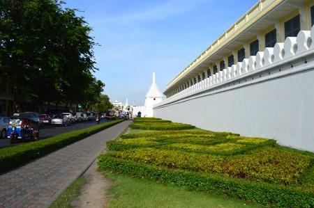 na: Na Phra Lan road, temple of the Emerald Buddha and Grand Palace, Bangkok, Thailand