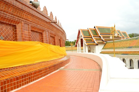 nakhon pathom: Phra Pathommachedi temple, Nakhon Pathom Stock Photo