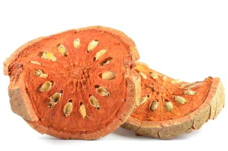 dicot: Bael frutta secca, Egle marmelos, centrale della Thailandia