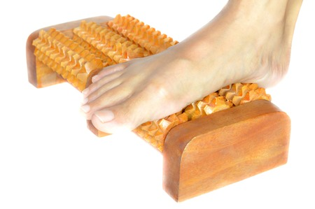 massager: Wooden foot massager from northern of Thailand