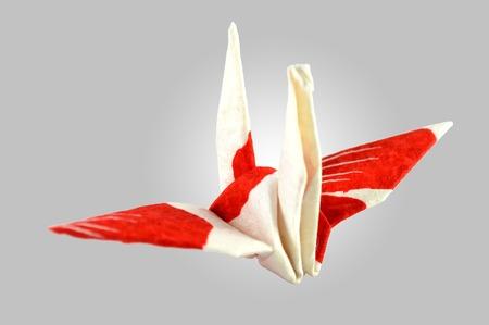 origami crane traditional japanese art of paper folding stock photo