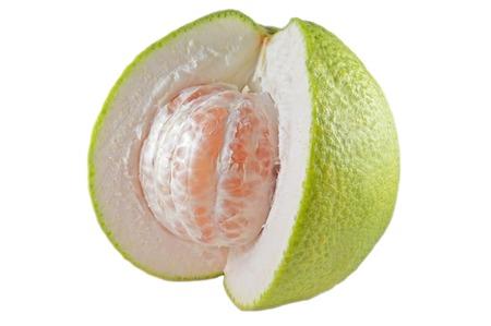 rutaceae: Pomelo, Citrus maxima, Familia Rutaceae, central de Tailandia Foto de archivo