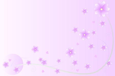 purple flowers: Purple flowers vector background