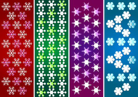 snow crystal: Abstract snow crystal pattern background Illustration