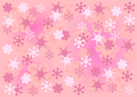 crystal background: Abstract pink snow crystal background
