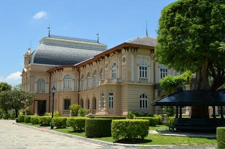 pilasters: Boromphiman throne hall, Grand palace, Bangkok, Thailand Editorial