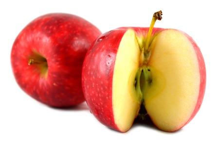 pome: Apple fruit Malus sp. on white background Stock Photo
