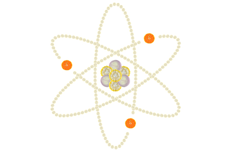 atomic structure: Atomic structure on white background Stock Photo