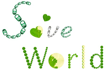 save the world: Save World word on white background