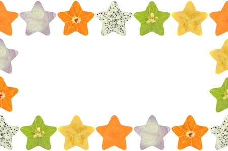 star shaped: Star shaped fruit and vegetable on white background