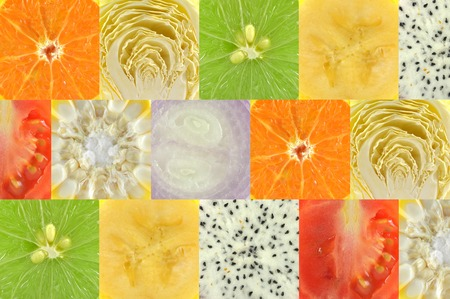 Square shaped fruit and vegetable background