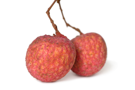 asian flavors: Lychee fruit, Litchi chinensis, Family Sapindaceae, Thailand