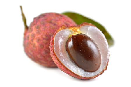 litchi: Lychee fruit, Litchi chinensis, Family Sapindaceae, Thailand