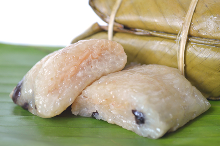 black gram: Thai traditional dessert, Khao tom mat, Central of Thailand