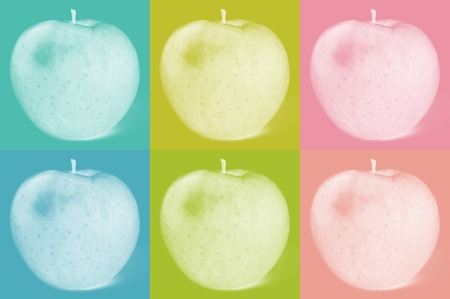 Apple fruit on colorful background