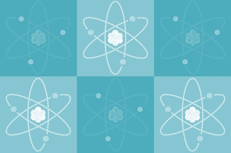 atomic structure: Atomic structure on blue background