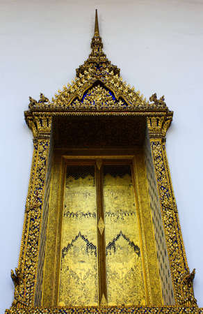 Thai designs on the windows