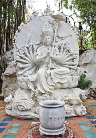 Stone carving of a Buddha