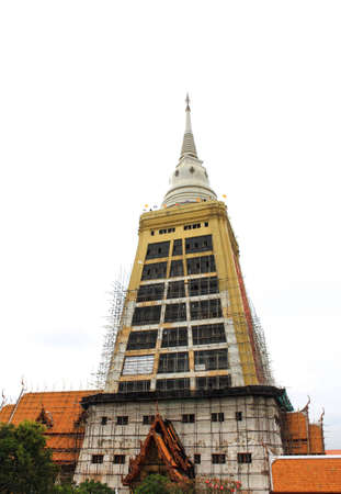 Repairing  pagoda Wat Tham Mongkhon Thao Bunya Non Wihan of bangkok in Thailand  photo